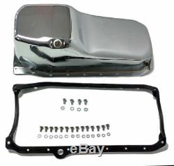SB Chevy SBC Chrome Oil Pan With Bolts & Gaskets 4qt 305-350 86-Up Hot Rat Rod