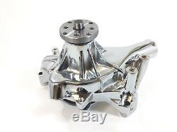 SB Chevy Water Pump Long Style SBC 283 327 350 383 400 SBC Long Aluminum Chrome