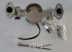 SMALL BLOCK CHEVY 327 350 Chrome Aluminum Electric Water Pump 35 GPM HIGH FLOW
