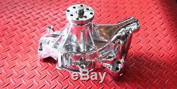 Sbc Chevy Chrome Chevrolet Long Water Pump High Volume 350 400 Small Block