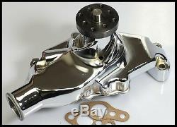 Sbc Chevy Short Chrome/aluminum Water Pump Hc-8011-c