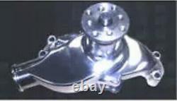 Small Block Chevrolet Chromed Aluminum High Flow Short Water Pump 327 350 400