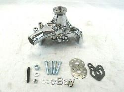 Small Block Chevy 350 Aluminum Long Water Pump Chrome BPK-1003C