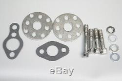 Small Block Chevy 350 High Volume CHROME Aluminum Short Water Pump With Bolt Kits