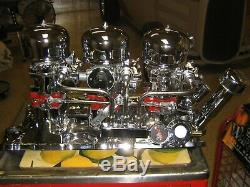 Small Block Chevy (3x2) Sbc Tri Power All Chrome Fuel Ready