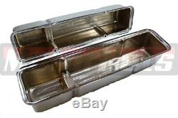 Small Block Chevy Chrome 350 Logo Engine Dress-Up Kit Valve Cover Air cleanerSBC