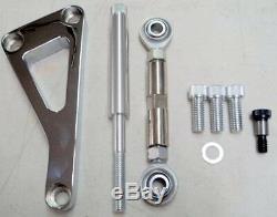 Small Block Chevy Chrome Aluminum Alternator Mounting Bracket Long Water Pump