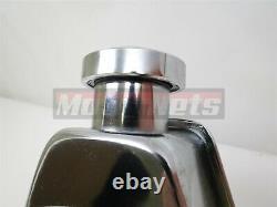 Small Block Chevy Chrome Saginaw Power Steering Pump + Bracket Kit Keyway Pulley
