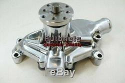 SB Chevy Water Pump Short SBC 283 327 350 V8 High Volume Aluminum Natural