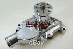 Small Block Chevy Chromed Aluminum 283 327 350 55-87 Short Water Pump SWP SBC