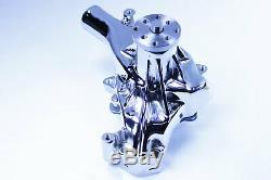 Small Block Chevy Chromed Long Water Pump High Volume 283 327 350 383 400 SBC
