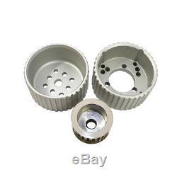 Small Block Chevy Gilmer Belt Drive Pulley Kit Short Water Pump Aluminum 350 400