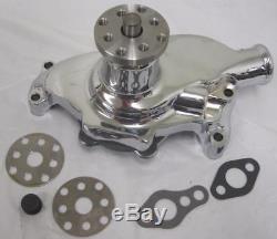 Small Block Chevy High Volume CHROME Aluminum Water Pump Short SBC 327 350 SWP