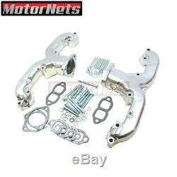 Small Block Chevy SBC 283-350 V8 Ram Horn Chrome Exhaust Manifold Headers 55up