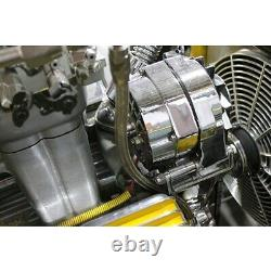 Small Block Chevy Upper Alternator Bracket, Chrome