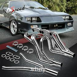 Ss Long Tube Header Manifold Exhaust+y-pipe For 82-92 Camaro F-body Sbc Z28 At
