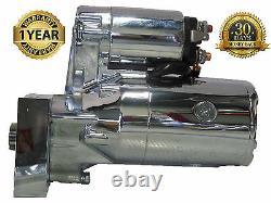 Starter fit HIGH TORQUE MINI 3HP Chrome CHEVY SBC BBC 153/168 TOOTH PP-106