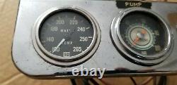 Stewart Warner 2 1/16 gauge kit Water Temp Oil Pressure green line vintage SW