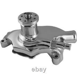 TUFF-STUFF 55-71 SBC Water Pump Short Chrome SuperCool 1354NBS