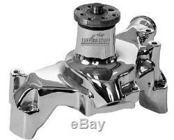 TUFF-STUFF SBC Alum. Long Water Pump Chrome P/N 1511NA