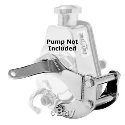 Tuff Stuff Power Steering Pump Bracket 6504A Chrome Steel for SBC with Saginaw