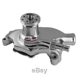 Tuff Stuff Water Pump 1354NAREV Mechanical Chrome Cast Iron for Chevy SBC