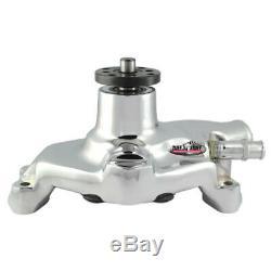Tuff Stuff Water Pump 1394NAREV Mechanical Chrome Aluminum for Chevy SBC