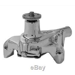 Tuff Stuff Water Pump 1449NAREV Mechanical Chrome Cast Iron for Chevy SBC