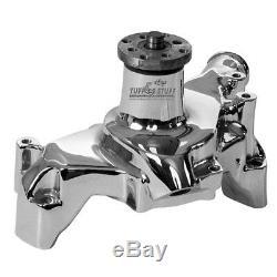 Tuff Stuff Water Pump 1511NAREV High Volume Chrome Aluminum for Chevy SBC