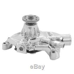 Tuff Stuff Water Pump 1534NB Mechanical Chrome Cast Iron for Chevy 262-400 SBC