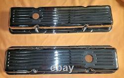 Valve Cover Set Sbc Small Block Chevrolet Short Milled Chrome Plated Aluminum