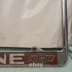 Vintage Cone Chevrolet Fullerton License Plate Frame Camaro Impala Nova Chevelle