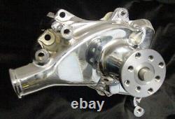 Water Pump Chrome Sbc Short Small Block Chevy New H. D. Procomp High Volume 2901