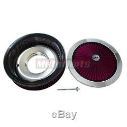 14x3 Chrome Lavable Cleaner Air Max Débit Flat Top 350 Sbc Bbc Chevy Hot Ratrod