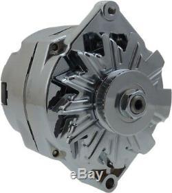 150 Amp Chrome Bbc Sbc Chevy Gm Alternateur 1 Street Wire Rod 65-85 7127se-c-150