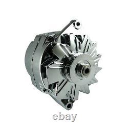 150 Amp Chrome Bbc Sbc Chevy Gm Alternator Hot Rod High Output 7127se-c-150