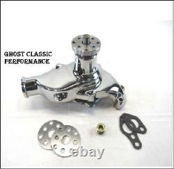 1955-1985 Petit Bloc Chevreuil 350 Pompe À Eau Courte En Aluminium Chrome Sharp