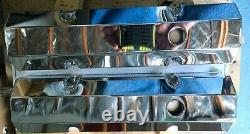 1958-1986 Petit Bloc Chevrolet Chrome Aluminium Revêtements De Valve Fabriqués