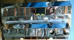 1958-1986 Small Block Chevy Chevrolet Aluminium Chrome Valve Covers Fabricated