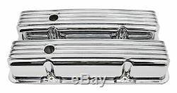 1958-86 Chevy Small Block 283-305-327-350-400 Grand Valve Covers Aluminium Chrome