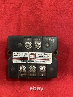 1960 Stewart Warner 977j Piédestal Tachometer & 990b Ignition Monitor Works