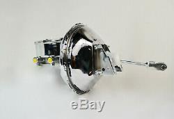 1964 1972 Sbc Chevy 11 Chrome Maître-cylindre Cylindre De Frein Supersonique Ovale