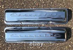1969 Chrome Script Chevrolet Sbc Valve Couvre Camaro Z28 302 Chevelle Nova
