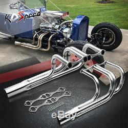 265-350 / 400 Classique T-seau Rue Rod Roadster Tête D'échappement Pour Chevy Sbc V8