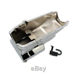 58-79 Sbc Chevy 350 Carter D'huile De Style Traîné Chromé De 7 Pintes Avec Tube De Ramassage 283 327 400