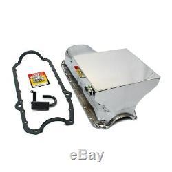 58-79 Sbc Chevy Chrome Drag Style De Carter D'huile 7qt 350 400 / Std. Joint Pick-up Boulons