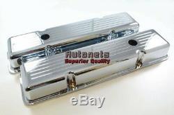 58-86 Chrome En Aluminium Sbc Petit Bloc Recouvrement De Soupape De Recouvrement De Soupape Court 350 400