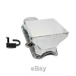80-85 Sbc Chevy 7 Qt Carter De Carter D'huile Et Tube De Ramassage En Chrome 350, Petit Bloc