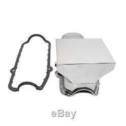 80-85 Sbc Chevy Chrome Drag Race Style Du Carter D'huile 7qt 305 350 Petit Bloc Avec Joint