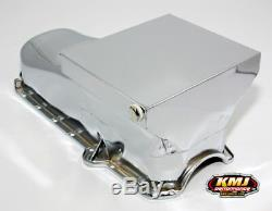 80-85 Sbc Chevy Chrome Drag Race Style Du Carter D'huile 7qt 305 350 Small Block